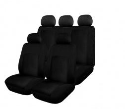 Комплект Авто Tапицерия за Дачия Логан 1,2 Dacia Logan I , II, Текстил, Черна