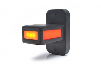 Светодиоден LED Габарит, Тип Рогче, Страничен, Е-Mark, Неон Ефект, за Камион, Ремарке 12/24V, Три Светлини, 8.7 см