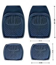 Универсални гумени стелки тип леген за кола, джип, бус к-кт 4бр.