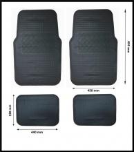 Комплект гумени черни автомобилни стелки предни и задни, PVC Универсални 4 броя