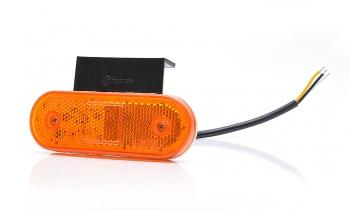 LED Светодиоден Мигач, Габарит Със Стойка, Маркер, Оранжев, Вграден Рефлектор, Е-Mark, Водоустойчив, 12V-24V