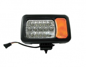 Ляв LED фар - къси / дълги светлини, мигач, рефлектор - подходящ за трактор, комбайн, багер и др - 16 диода