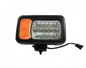 Десен LED фар - къси / дълги светлини, мигач, рефлектор - подходящ за трактор, комбайн, багер и др - 16 диода