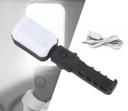 LED работна лампа / фенер - 2400mAH батерия, зареждане през USB - магнит и кука за закачане - 1200 лумен