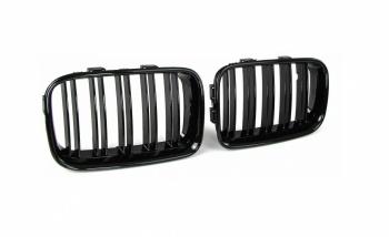 Двойни Бъбреци Решетки За БМВ BMW E36 Преди Фейслифта Черен Гланц Лак