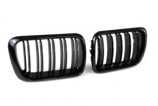 Двойни Бъбреци Решетки БМВ BMW E36 Фейслифт Facelift 96-99 Черен Гланц