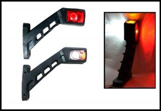 Комплект LED габарити светлини тип рогче за камион, ремарке 12/24V, с три светлини
