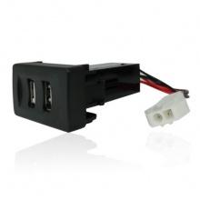 Двойно USB Зарядно за Вграждане за Vw Transporter Транспортер Т4 4.2A