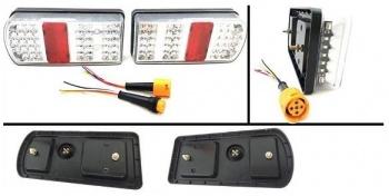 Комплект  Диодни LED стопове 12V 24V Волта бус камион ТИР ремарке