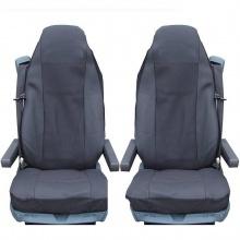 Калъф/тапицерия за седалки Flexzon за VOLVO FL,FE,FM16,FH16,FH12, Черни