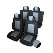 Калъфи/тапицерия лукс за Dacia Duster 2010 - 2016, сиво и черно