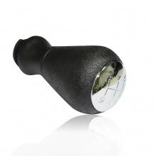 Топка за скоростен лост за PEUGEOT пежо  106/206/306/406/107/207/307 Ситроен XSARA PICASSO C2 C3 C4 C5 BERLINGO, Черен/Сребрист 5 скорости