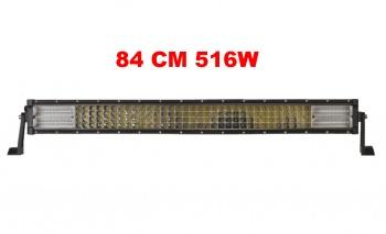 84 См 516W Мощен 7D 7Д Led Bar Лед Диоден Бар Прожектор 12V 24V 4 Редов
