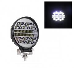 108W LED ЛЕД Диоден Фар Кръгла Работна Лампа Прожектор Задна Светлина 12V 24V