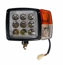 Ляв LED Фар с Мигач, Габарит,  Подходящ за Трактор, Комбайн, Багер, Снегорин и др - 9 диода