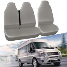 2+1 Непромокаем протектор / калъфи за седалки на бус - изработени от плътен и здрав, лесен за почистване текстил- сиви