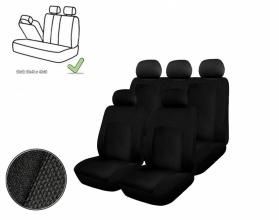 Универсална Авто тапицерия, калъфи за седалки, пълен комплект делима задна седалка с цип  черна