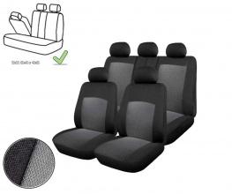 Универсална Авто тапицерия, калъфи за седалки, пълен комплект делима задна седалка с цип  сива
