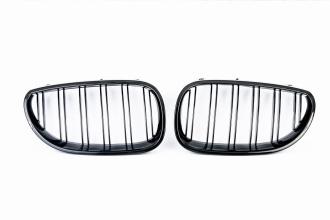 Бъбреци Решетки Двойни За БМВ BMW Е90 Е91 08-11 Черен Гланц Фейслифт Facelift