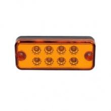 8 LED Оранжеви - Диодни Лед Габарити / Светлини / Токоси - 99mm x 40mm - 12V