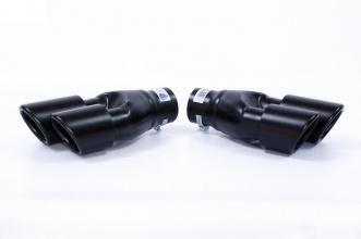 Универсални Накрайници за Ауспух на Автомобил, 38-65мм,26см, Черен Мат