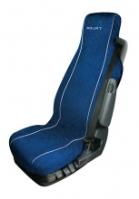 Универсален мек, комфортен калъф / тапицерия за седалка на камион - MONICA - микрофибърен - Volvo, DAF, Man, Scania, Mercedes, Iveco - син