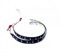 Комплект две 30СМ водоустойчиви диодни ленти - дневни светлини - 12 SMD диода - червени