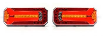 Комплект LED Светодиодни Стопове, Ляв и Десен, 4 Функции, Е-Мark,  Неон Ефект, 12V-24V