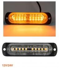 10 LED Аварийна Лампа За Пътна Помощ , Жълта Блиц Мигаща Светлина 12V 24V