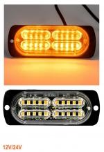 20 LED Аварийна Лампа За Пътна Помощ , Жълта Блиц Мигаща Светлина 12V 24V