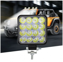 48W ЛЕД 12V 24V LED Диоден Халоген Фар Прожектор Задна Светлина Диодна Лампа