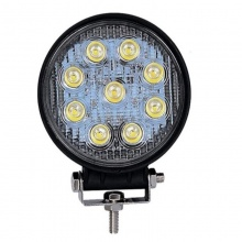 27W ЛЕД 12V 24V LED Диоден Халоген Фар Прожектор Задна Светлина Диодна Kръгла Лампа