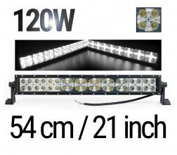 54 См Led Bar Лед Диоден Бар Прожектор Дневна Светлина CROSS DRL 120W 12V 24V
