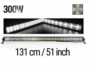 131 См Led Bar Лед Диоден Бар Прожектор Дневна Светлина CROSS DRL 300W 12V 24V