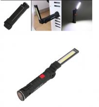 Акумулаторна Мини LED Лед Диодна Работна Лампа, Магнитна , Сгъваема на 270°, Бяла и Червена Светлина, 5 Режима на светене, За Автомобил, Къмпинг, Авария, Лов и Риболов