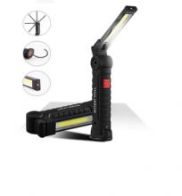 Акумулаторна LED Лед Диодна Работна Лампа, Магнитна , Сгъваема на 270°, Бяла и Червена Светлина, 5 Режима на светене, За Автомобил, Къмпинг, Авария, Лов и Риболов