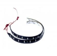 Комплект две 30СМ водоустойчиви диодни ленти - дневни светлини - 12 SMD диода - оранжеви