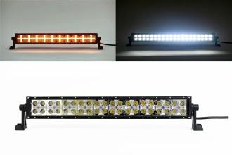 54 См Led Bar Лед Диоден Бар Прожектор Бяла и Оранжева, Жълта Светлина, Блиц, Флаш, CROSS DRL 120W 12V 24V