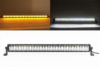 80 См Led Bar Лед Диоден Бар Прожектор Бяла и Оранжева, Жълта Светлина, Блиц, Флаш, CROSS DRL 180W 12V 24V