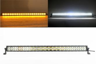 100 См Led Bar Лед Диоден Бар Прожектор Бяла и Оранжева, Жълта Светлина, Блиц, Флаш, CROSS DRL 240W 12V 24V