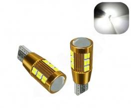 LED Лед Диодни Крушки За Габарит, Т10 W5W 194 168, 30 SMD, 12V, Бяла Светлина, Canbus - Error free , Без грешки
