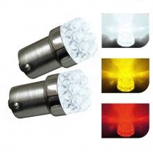 LED Лед Крушки, Mигач, Стоп, Габарит, Халоген, 9 LED, 1156 BA15S ,12V, Бяла, Оранжева, Червена