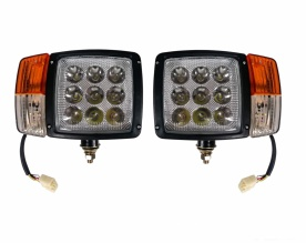 Комплект LED Фарове с Мигач, Габарит,  Подходящ за Трактор, Комбайн, Багер, Снегорин и др - 9 диода