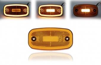 LED Светодиоден Габарит, 122mm x 63mm, Оранжев, Жълт, Неон Ефект, Три Функции,12V-24V