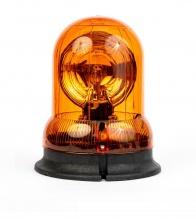 Въртяща Сигнална Аварийна Оранжева Лампа Маяк с Крушка 12V - 24V,  Ø 148mm
