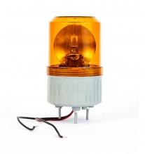 Въртяща Сигнална Аварийна Оранжева Лампа Маяк с Крушка 12V - 24V,  Ø 84.4mm