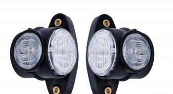 Комплект от 2бр LED Лед габарити светлини тип рогче за камион ремарке тир бус 12V/24V