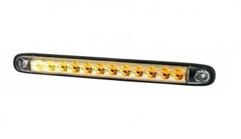 """26см LED Лед Динамичен """"Бягащ"""" Мигач, Жълта Светлина, 12V - 24V, E-Mark, 12 Диода,"""