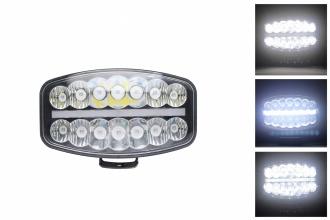 80W LED Лед Фар Халоген, Три Функции, Неон ефект, Neon 24,5см x 13,9см, 4100lm, 12V - 24V, E-Mark Подходящ За DAF MAN Scania Volvo и др.