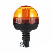 LED ЛЕД Аварийна, Сигнална Лампа, 40 Диода, 3 Режима На Светлина, Маяк, Буркан, Оранжева, Жълта, 12V - 24V, Е-Mark E9